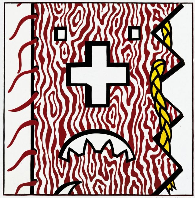 Roy Lichtenstein American Indian Theme IV from American Indian Theme Series (C. 163), 1980 woodcut and lithograph on paper B. 28½ x 28 inches S. 37¼ x 36 1/8 inches Edition 18 of 50, with 18 signed and dated in pencil, numbered 18/50