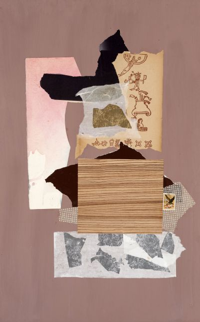 Dorothy Hood Untitled 1049, c. 1980-90s collage on mat paper: 32 x 20 inches frame: 34 3/4 x 22 3/4 inches