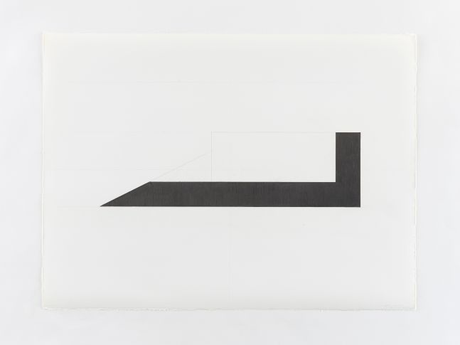 Ted Stamm LW-2C (Lo Wooster), 1979 graphite on paper 22 3/8 x 30 1/8 inches