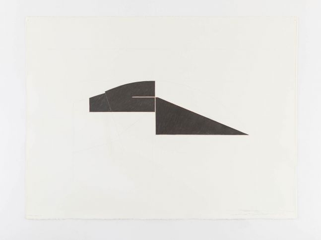 Ted Stamm  DGR-35-4 (Dodger), 1976  red pencil and graphite on paper  22 x 30 inches