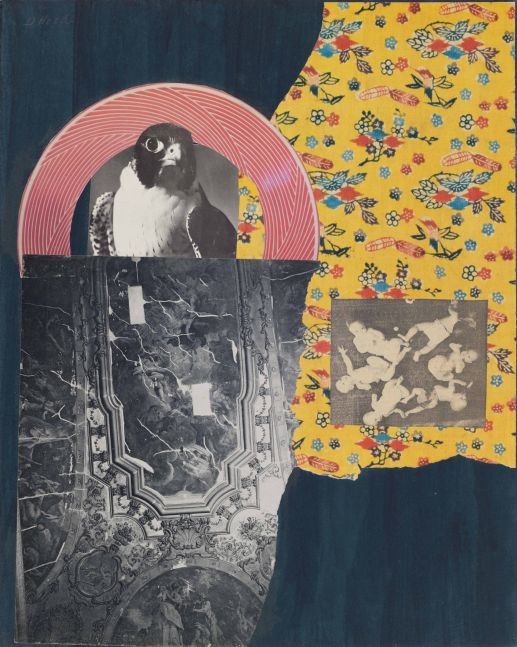 Dorothy Hood Presences, c. 1980-90s collage on mat paper: 20 x 16 inches frame: 22 1/2 x 18 1/2 inches (