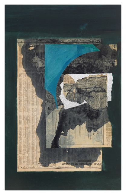 Dorothy Hood Untitled 1056, c. 1980-90s collage on mat paper: 32 x 20 inches frame: 34 3/4 x 22 3/4 inches