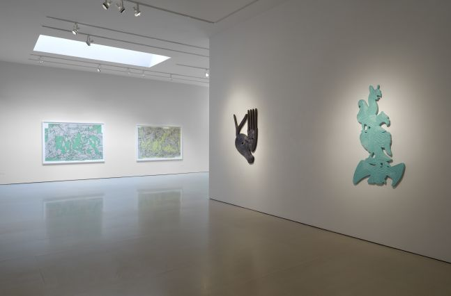 Installation view of Bo Joseph | Feeding the Beast at McClain Gallery, September 2020