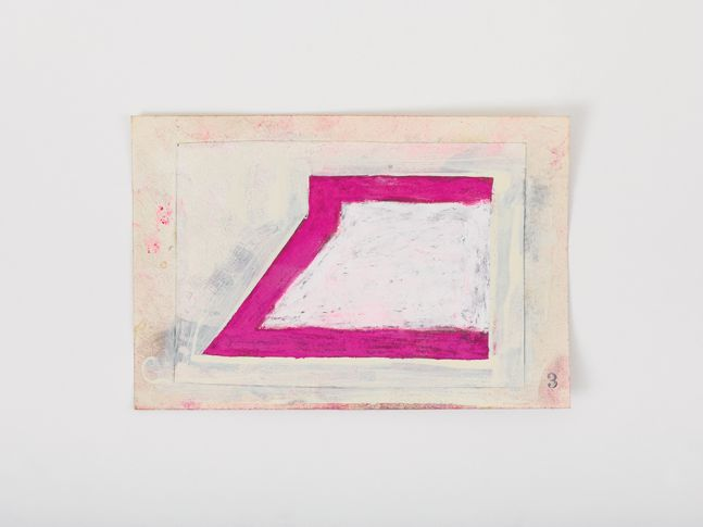 Ted Stamm 3 (8 Woosters), 1979 collage on paper 4 x 6 inches