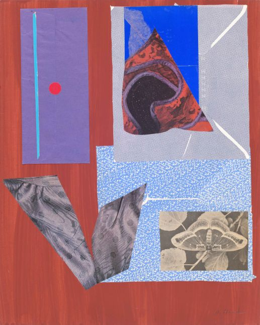 Dorothy Hood Purple Envelope, c. 1980-90s collage on mat paper: 19 7/8 x 16 inches frame: 22 1/2 x 18 1/2 inches