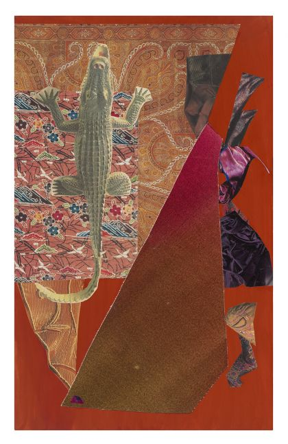 Dorothy Hood Untitled 1146, c. 1980-90s collage on mat paper: 32 x 20 inches frame: 34 3/4 x 22 3/4 inches