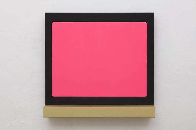 Sylvie Fleury Flush, 2018 acrylic on shaped canvas 42 1/8 x 44 1/2 x 8 5/8 inches