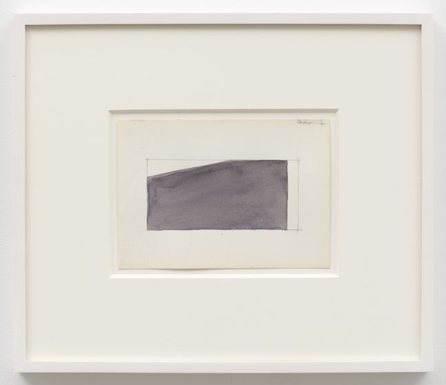 Ted Stamm DRM 12, 1980 watercolor on paper 4 3/4 x 6 5/8 inches