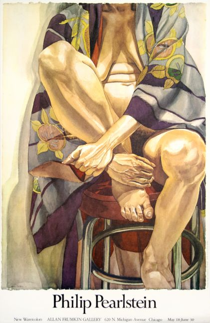 Philip Pearlstein New Watercolors (Allan Frumkin Gallery Exhibition Poster)