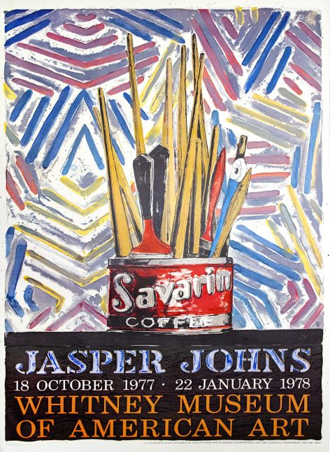 Jasper Johns Whitney Museum of American Art Exhibition Poster
