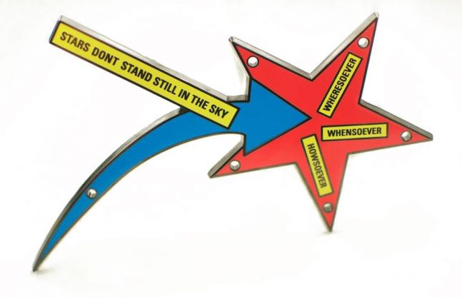 Lawrence Weiner Stars Don't Stand Still in the Sky