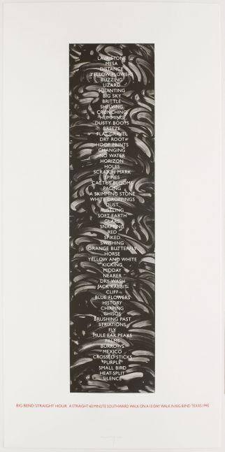 Richard Long: 60 Minute Walk, 1990