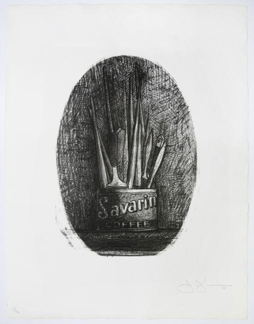 Jasper Johns Savarin 4 (Oval), 1978