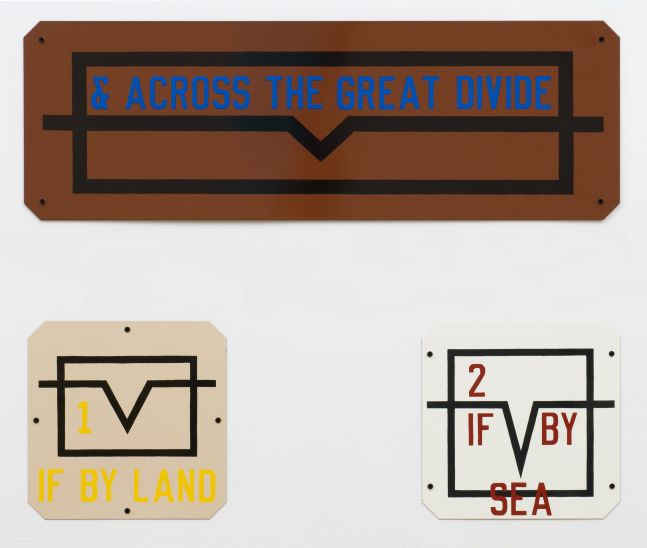 Lawrence Weiner & Across the Great Divide, 1991