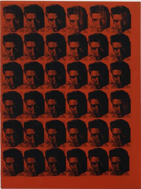 Andy Warhol Red Elvis 1962 silkscreen ink and acrylic on canvas 69 3/4 x 52 inches (177.2 x 132.1 cm)  Courtesy The Brant Foundation, Greenwich, CT