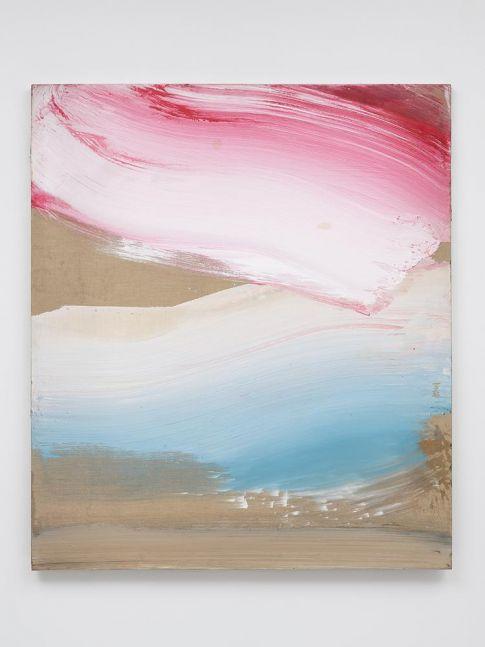 Ed Clark Blue & Red 2005 acrylic on canvas 69 3/4 x 60 1/4 inches (177.8 x 152.4 cm)