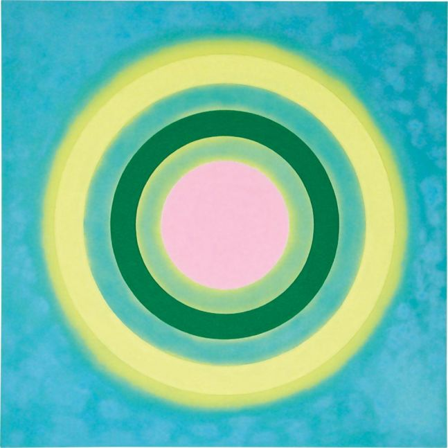 Kenneth Noland Mysteries: Aglow 2002 acrylic on canvas 72 x 72 inches (182.9 x 182.9 cm)