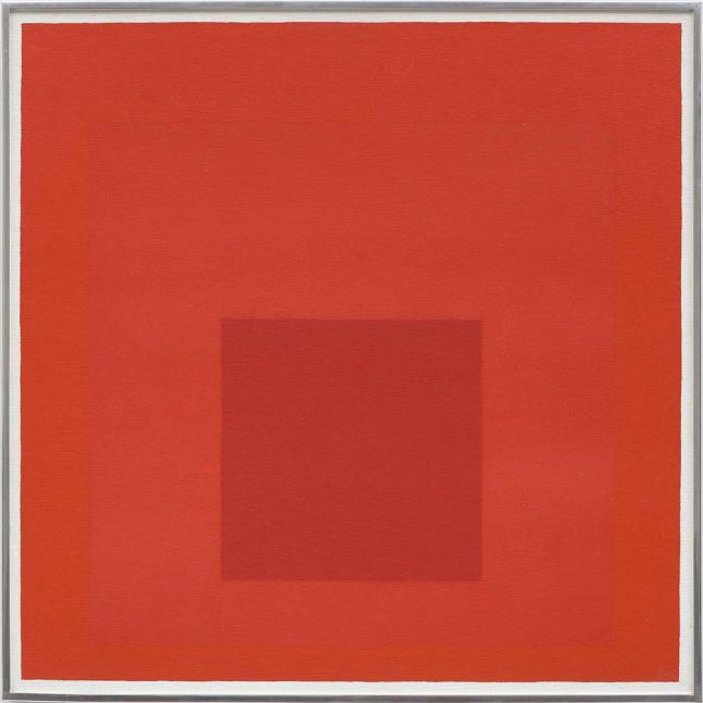 Josef Albers Study for Homage to the Square 1967 oil on masonite 24 x 24 inches (61 x 61 cm)  Private collection