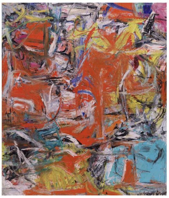 Willem de Kooning Composition 1955 oil, enamel, and charcoal on canvas 79 1/8 x 69 1/8 inches (201 x 175.6 cm)  Solomon R. Guggenheim Museum, New York