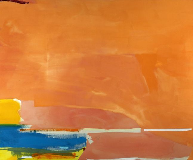 Helen Frankenthaler Elberta 1975 acrylic on canvas 79 x 97 inches (200.7 x 246.4 cm)