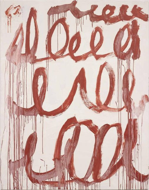 Cy Twombly Untitled 2006 acrylic on canvas 84 5/8 x 66 1/8 inches (214.9 x 168 cm)  Private collection