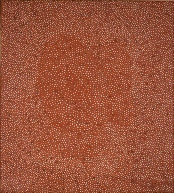 Yayoi Kusama No. Red A 1960 1960 oil on canvas 71 x 63 in. (180.3 x 160 cm)  Grey Art Gallery  New York University Art Collection  Gift of Silvia Pizitz
