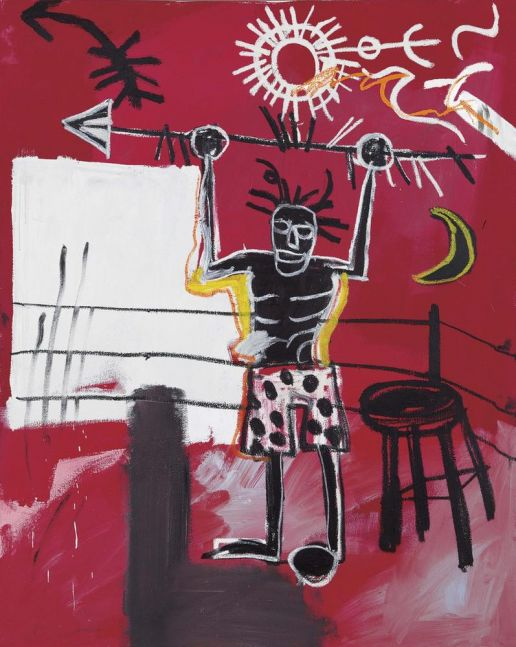 Jean-Michel Basquiat The Ring 1981 oil and oil stick on canvas 60 x 48 inches (152.4 x 121.9 cm)  Private collection
