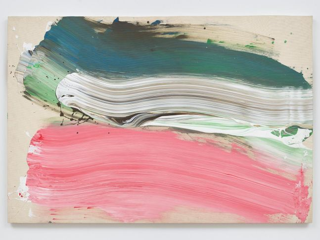 Ed Clark Untitled 2009 acrylic on canvas 50 1/8 x 73 5/8 inches (127.3 x 187 cm)