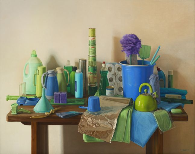 Blue Marjana, 2008, oil on canvas, 51 x 63 3/4 inches