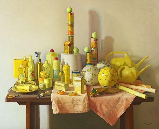 Yellow Marjana, 2008, oil on canvas, 51 1/8 x 63 3/4 inches