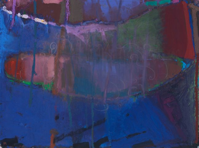 Brian Rutenberg Under the Pines 8, 2020, oil on paper, 22 1/2 x 30 inches