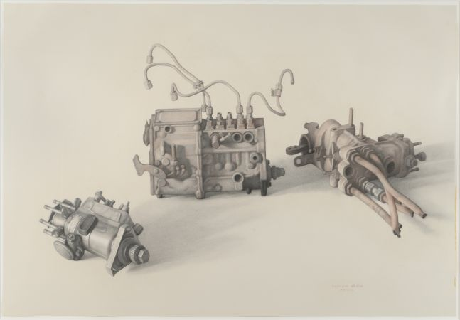Engines, 2008, pencil on paper, 29 1/8 x 42 7/8 inches