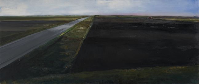William Beckman Montana Plowed Field #2, 2020 oil on panel 9 3/4 x 22 3/4 inches