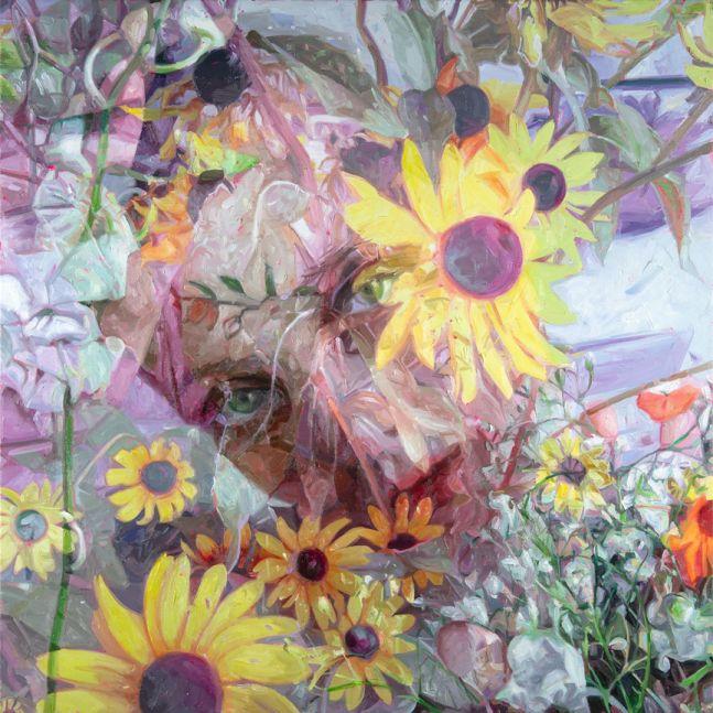 Alyssa Monks, Wane, 2020, oil on linen, 36 x 36 inches