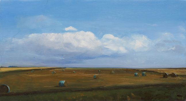William Beckman Bales #6, 2020 oil on panel 7 3/8 x 13 1/2 inches
