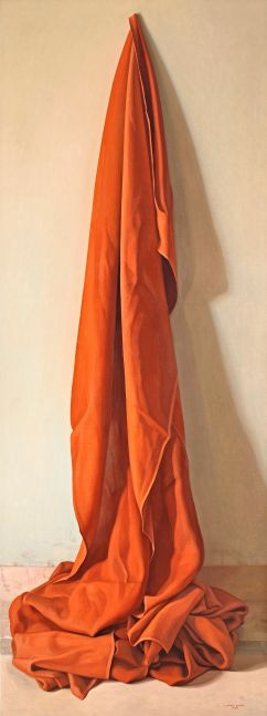 Red Cloth, 2011, oil on canvas, 78 3/4 x 29 1/2 inches
