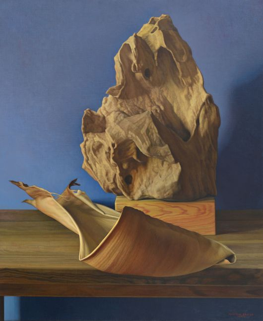 Stone and Spathe, 2010, oil on canvas, 39 3/8 x 31 7/8 inches
