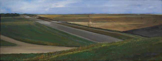 William Beckman Montana Study, 2019 oil on panel 8 7/8 x 23 3/8 inches