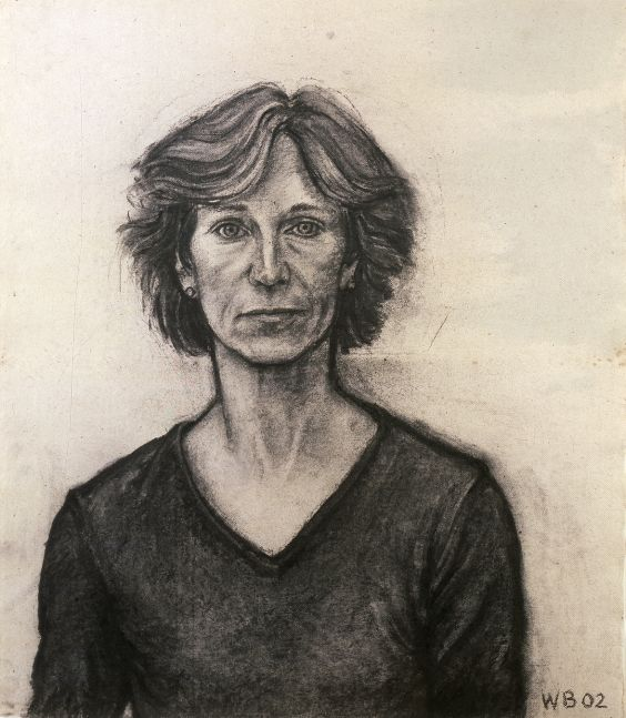 William Beckman, Elizabeth, 2002, charcoal on paper, 29 x 25 inches