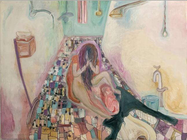 SOSA JOSEPH, Birth, 2019, oil on Canvas, 36 x 48 in / 91.4 x 121.9 cm