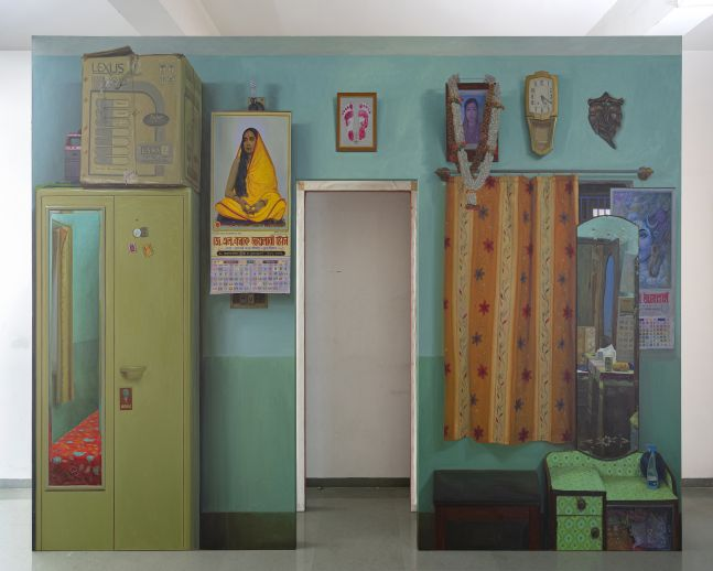 ABIR KARMAKAR Passage 3, 2020  Oil on canvas  108 x 168 in / 274.3 x 426.7 cm (Part 1 of Set 2)