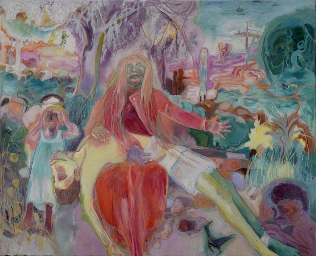 SOSA JOSEPH, Pieta, 2020, oil on canvas, 68 x 84 in / 172.7 x 213.3 cm