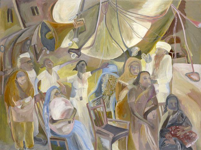 SOSA JOSEPH  Waits, 2013  Oil on canvas  36 x 48 in / 92 x 122 cm
