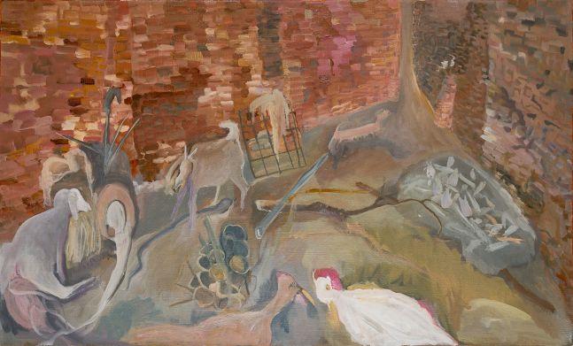 SOSA JOSEPH, Leftover, 2018, oil on canvas, 23.7 x 39.3 in / 60.4 x 100 cm