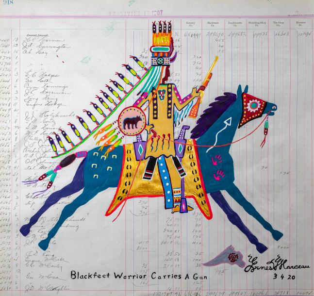 Blackfeet Warrior Carries a Gun