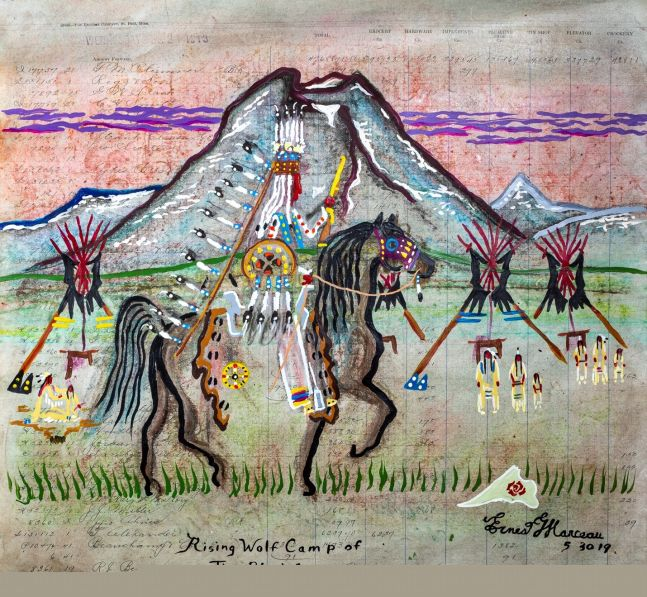 Rising Wolf Camp of the Blackfeet