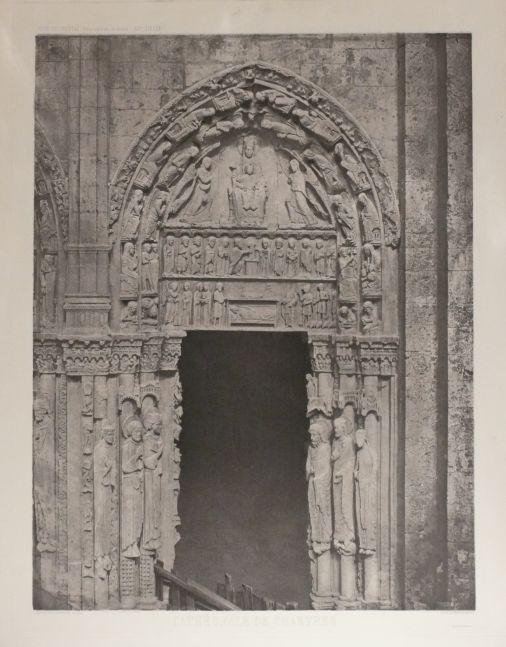 Charles NÈGRE (French, 1820-1880) Cathédrale de Chartres - Côté Occidental, Porte Latérale de droite XIIe siècle, Before 1867 Photogravure 59.8 x 45.1 cm image