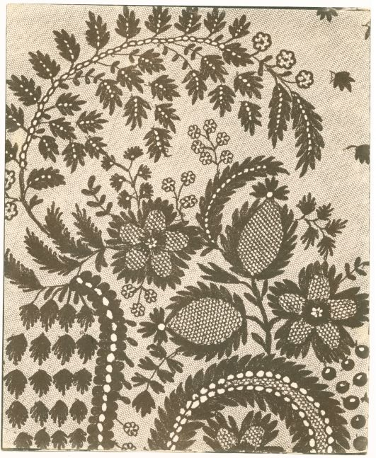 """William Henry Fox TALBOT (English, 1800-1877) Lace, early 1840s Salt print from a photogenic drawing negative 22.7 x 18.7 cm on 22.9 x 18.8 cm paper """"LA278"""" in ink on verso"""