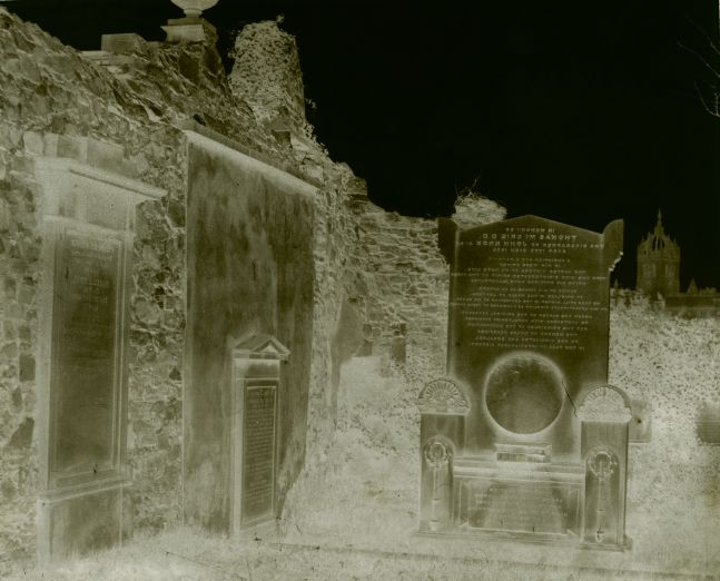 Attributed to Dr. Thomas KEITH (Scottish, 1827-1895) Tomb of Thomas McCrie, Greyfriars Churchyard, 1853-1856 Waxed paper negative 22.0 x 27.0 cm