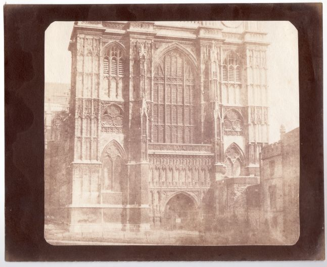 Nicolaas HENNEMAN (Dutch, active in England, 1813-1898) Westminster Abbey, prior to May 1844 Salt print from a calotype negative 18.4 x 22.8 cm, corners trimmed, plus margins